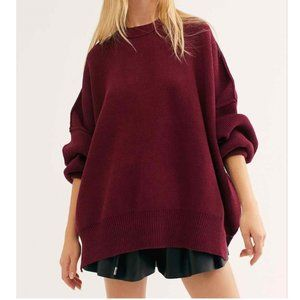 Free People Easy Street Tunic in Wine, size Large